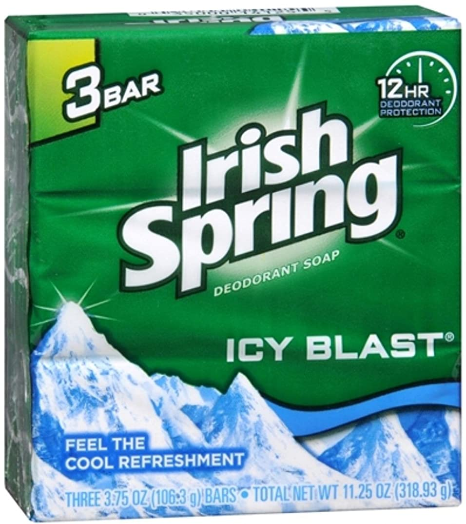 理解中央値慎重にIrish Spring デオドラント石鹸、アイシーブラスト、3.75オズバー、3 Eaは(6パック)