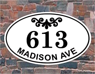 """Carvature House Numbers and Street Name, House Number Plaque, Address Plaque House, Address Number House, Address Sign, House Number Sign, Address Plaque, Housewarming Gift, Wedding Gift, 11.5"""" x 7.5"""""""