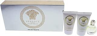Versace Versace Eros Pour Femme By Versace for Women - 3 Pc Mini Gift Set 0.17oz Edt Splash, 0.8oz Luxuriy Bath Shower Gel, 0.8oz Luxury Body Lotion, 3count