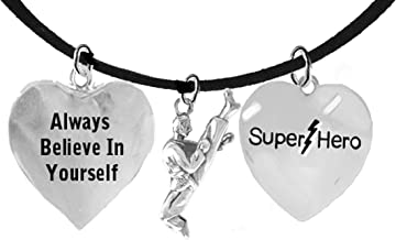 Martial Arts, Kickboxing Jewelry, Karate Jewelry, Super Hero, We Are So Proud Of You, Martial Arts Jewelry Adjustable Necklace Hypoallergenic, Safe-Nickel, Lead Free
