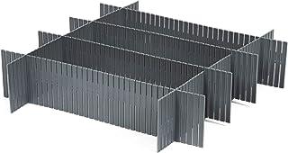 Compactor 3 Lotes de 6 Separadores de Cajones en Plástico Gris RAN7033 44 x 10 cm