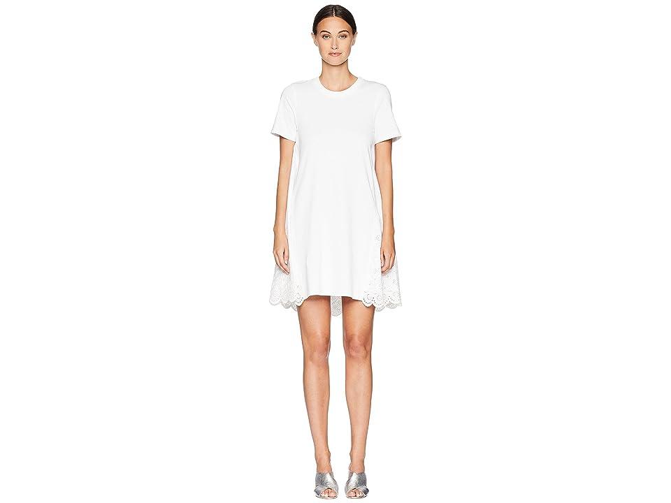 McQ Ruffle Hybrid Dress (Optic White) Women
