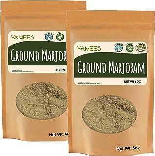 Yamees Marjoram Ground - 12 Oz (6 Oz Each) - Ground Marjoram Spice - Bulk Spices