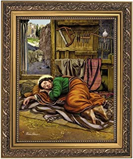 Gerffert Collection Sleeping St. Joseph Portrait Print, 13 Inch