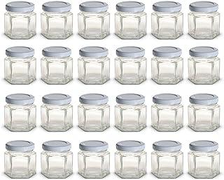 30 botellas de vidrio transparente de 2 ml con tap/ón de rosca mini embudos Hyber/&Cara