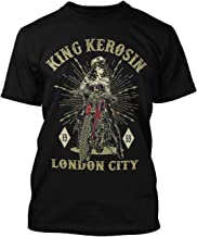 King Kerosin Regular Rockabilly Biker Pin-Up - Camiseta para Hombre, diseño de Londres, Color Negro
