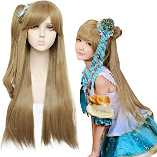 JoneTing Blonde Cosplay Wigs for Women Wig Long Wavy Wig with Ponytail Wigs for Halloween