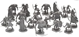 Drunkn Dragon 25 Fantasy Miniatures for Tabletop/Dungeons and Dragons Roleplaying Games - Bulk Minis Unpainted- Enemies and Monster Figures Starter Set - Compatible with DND D&D Made