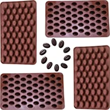 Onwon 4 x 55 Mini Coffee Beans Chocolate Mold Candy Ice Cube Jelly DIY Cake Decoration Food-Grade Silicone Bakeware Mould ...
