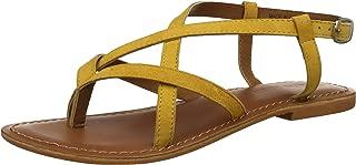 VERO MODA Women's Vm Cassida Leather Sandals Fashion