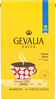 Gevalia House Blend Ground Coffee (20 oz Bag)