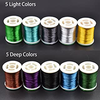 Phecda Sport 10 Colors 300 Deniers Fly Tying Floss Thread Silk Shiny Fly Tying Materials for Nymphal & Streamer Flies