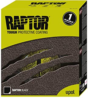 RAPTOR 0820V Black Truck Bed Liner 1 US Gallon Kit 2.6 VOC, 135.24 Fluid_Ounces