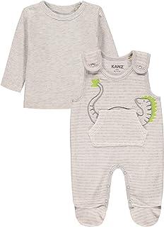 Kanz Baby-Mädchen Set aus Strampler und Langarmshirt Kleinkind-Schlafanzüge