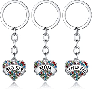 Nzztont Big Sister Little Sister Necklace Set Big Sis Little Sis Matching Jewelry Girls Crystal Heart Pendant Necklace