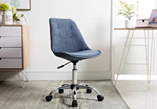 Porthos Home Office Chair, Designer Office Chairs with Wheels, Premium Quality Comfort 360 Degree Swivel Height Adjustable, One Size, Blue