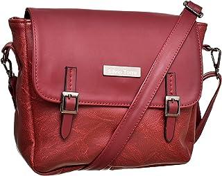 حقائب طويلة تمر بالجسم للنساء من سيلفيو توري - بني محمر