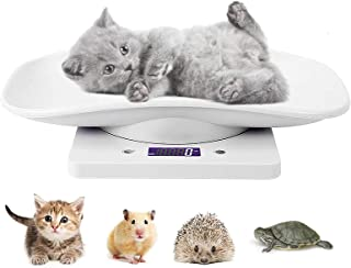 مقياس Goldmeet الصغير للحيوانات الأليفة ، مقياس صغير للجراء والقطط يقيس الحيوانات الصغيرة بسعة 22 رطلاً - 10 كجم ، موازين ...