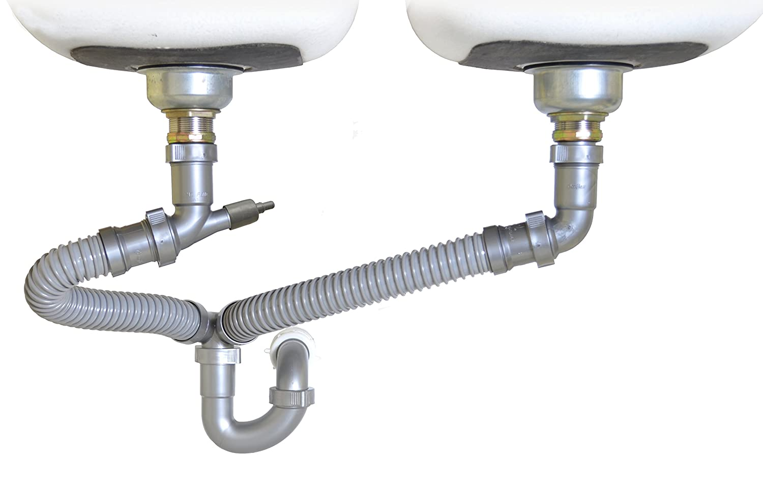 Snappy Trap 1 1 2 All In One Drain Kit For Double Bowl Kitchen Sinks Amazon In Home Improvement