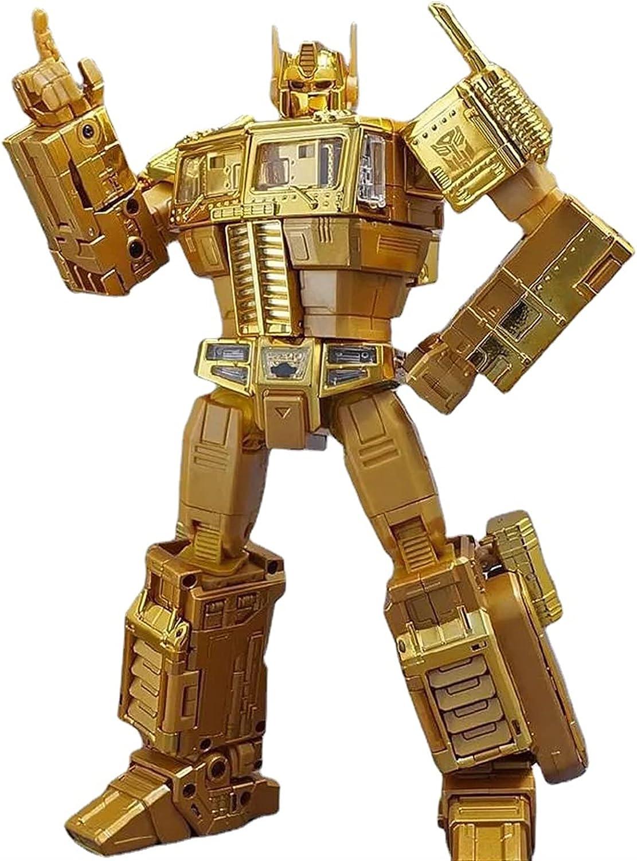 Ultra-Cheap Super Special SALE held Deals WJYLM Robot Transformer KO Transformers Optimus Toy Gold MP10G