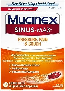 Mucinex Sinus-Max Max Strength Pressure, Pain & Cough Liquid Gels 16 ea
