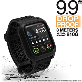 Catalyst Apple Watch Series 4 Impact Case 40mm ECG and EKG Compatible Superior Sport Band Rugged iWatch Protective Case, Drop Proof Shock Proof Apple Watch Case, Stealth Black