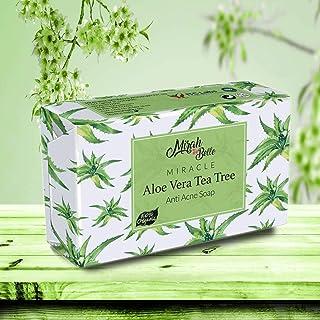 Mirah Belle - Organic Aloe Vera - Tea Tree Anti Acne Soap Bar (125 GM) Acne, Blemishes, Scars, Pimples, Dark Spots, Infect...