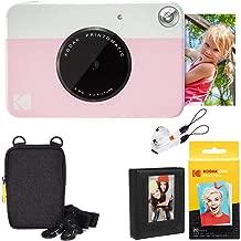 Kodak Printomatic Instant Camera (Pink) Deluxe Bundle + Zink Paper (20 Sheets) + Deluxe Case + Photo Album + Hanging Frames + Comfortable Neck Strap
