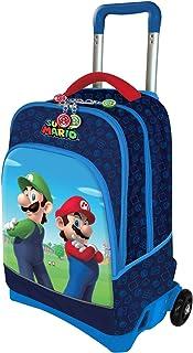 Super Mario Mochila Trolley Escuela 200340 Blù
