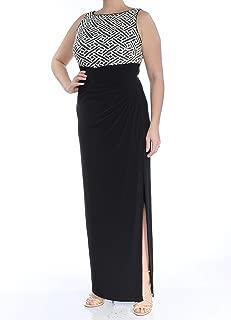 LAUREN RALPH LAUREN Sequin Jersey Column Gown (Black, 12)