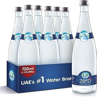 Al Ain Zero, Drinking Water in Glass Bottle - 750 ml (Pack of 6)