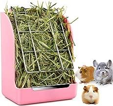 Alimentador de conejo STKYGOOD Conejito Conejillo de Indias Alimentador de heno, Heno Conejillo de Indias Alimentador de heno, Chinchilla Tazón de comida de plástico