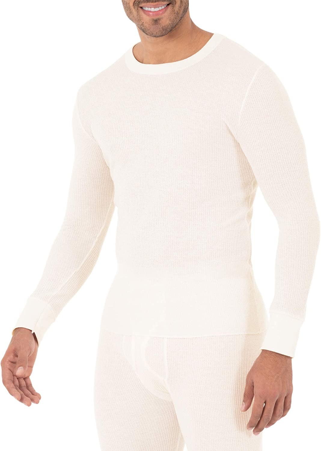 Fruit of the Loom Classic Midweight Waffle Thermal Top sous-v/êtement Haut Thermique Homme