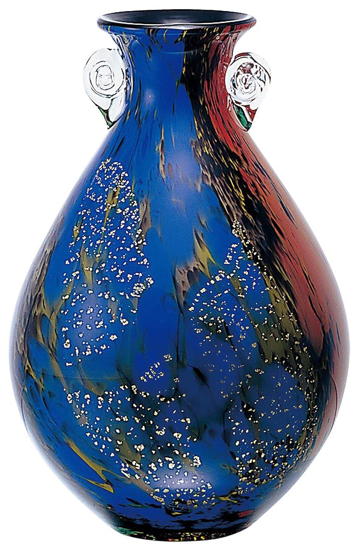 肝すきアパルアデリア 津軽びいどろ 花器 十和田 最大21×高31cm 日本製 F-79823