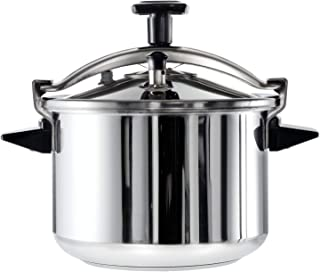 TEFAL Authentique 12 Litre Pressure Cooker, Silver, Stainless Steel, P0531731