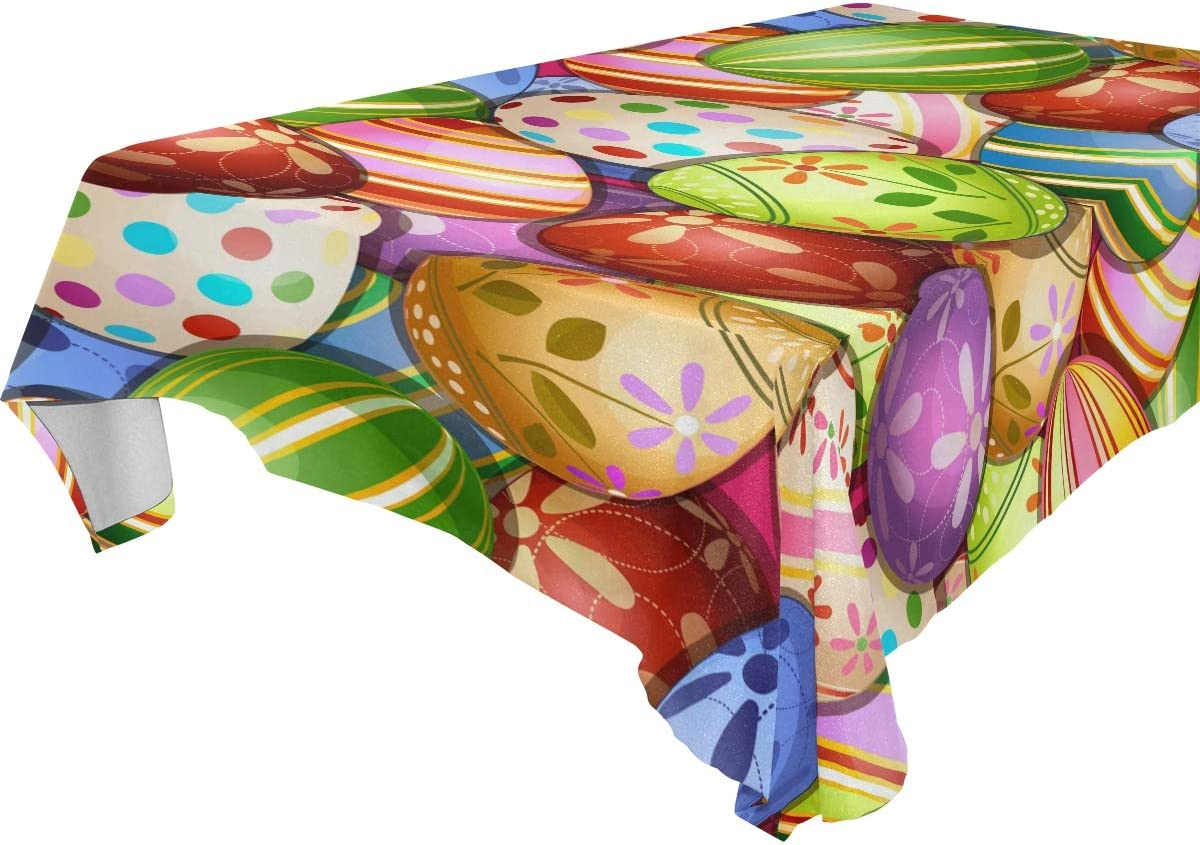 Baofu 保障 Easter Tablecloth Rectangle Colorful Vintage テレビで話題 Egg Bunny Pol