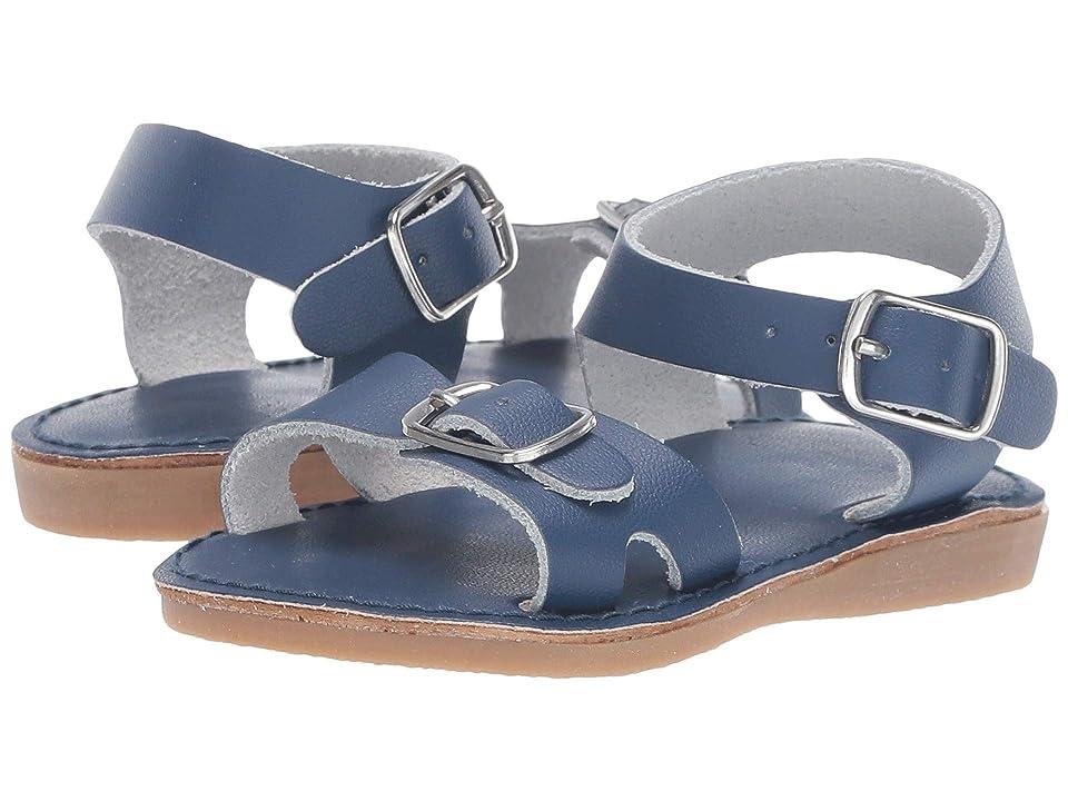 Baby Deer Classic Leather Sandal Walk (Infant/Toddler/Little Kid) (Navy) Kids Shoes