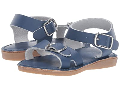 Baby Deer Classic Leather Sandal Walk (Infant/Toddler/Little Kid) (Navy) Kids Shoes