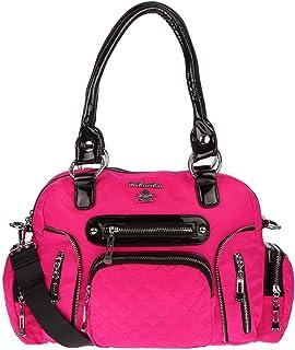 Christian Wippermann Große Damen Tasche Umhängetasche Schultertasche Shopper Handtasche Stofftasche Pink