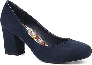 MaxMuxun Chaussures à Talons Orteil Fermé avec la Semelle Flores Mode Élégant Pointe Ronde pour Ffemmes 36-41 EU