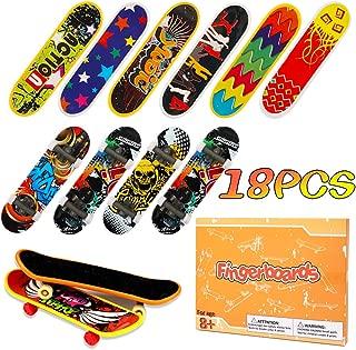 HEHALI 18pcs Professional Mini Fingerboards Toy Finger Skateboards for Kids Birthday Gifts (12 Normal + 6 Matte)