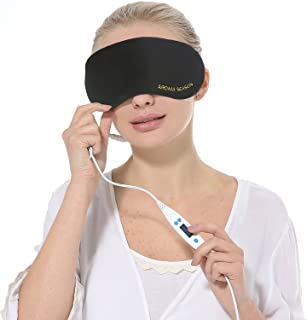 Aroma Season USB Steam Eye Mask to Relieve Eye Stress, Warm Therapeutic Treatment for Dry Eye, Blepharitis, Styes (Black)