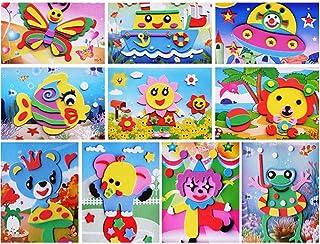 STOBOK EVA Foam Stickers Fun 3D DIY Manual Stickers Painting Sticker for Kids Art Craft Set / 10 Sets-Random Pattern