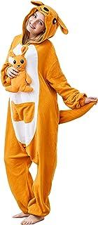 Everley43Jones Cartoon Kangaroo Conjoined Pajamas Halloween Pajamas Party Cosplay Costumes