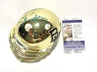 Shawn Oakman Autographed Signed Baylor Bears Gold Chrome Mini Helmet JSA