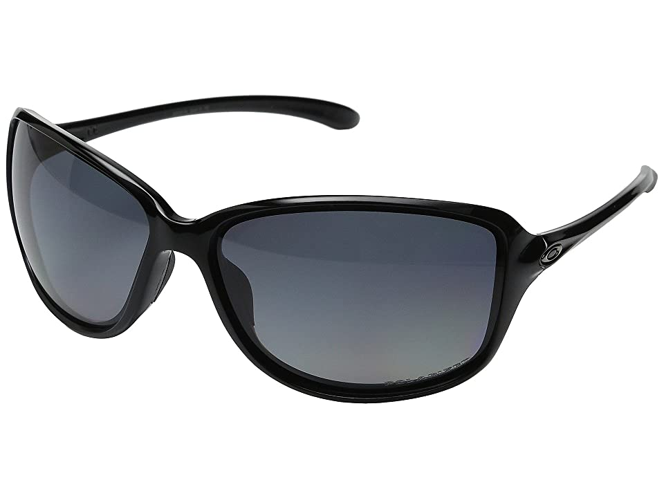 Oakley Cohort (Polished Black/Grey Gradient Polarized) Plastic Frame Fashion Sunglasses