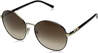 Burberry Women's 0BE3094 114513 56 Sunglasses, Light Gold/Browngradient