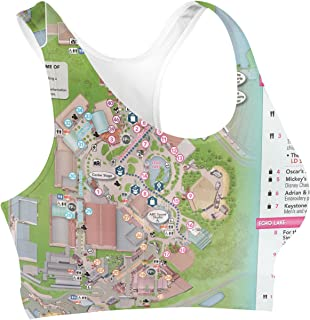 Rainbow Rules Hollywood Studios Map Sports Bra