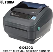 Zebra - GX420d Direct Thermal Desktop Printer for Labels, Receipts, Barcodes, Tags, and Wrist Bands - Print Width of 4 in - USB, Serial, and Ethernet Port Connectivity