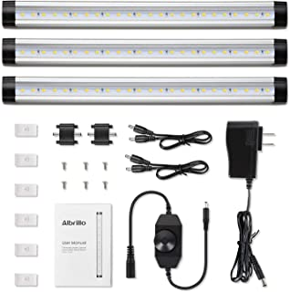 Albrillo LED Under Cabinet Lighting, Dimmable Under Counter Lighting, 12W 900 Lumens,..